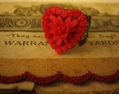 Sweetheart Vintage Japanese Red Heart Ring