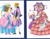 Vintage German Folder with 9 Costume History Postcards 1790-1930 Europe