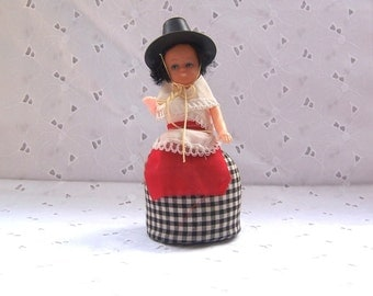 Traditional Costume Doll Pincushion - Wales - UK - Europe