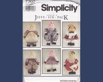 Simplicity Doll Pattern - Stuffed Pig and Clothes