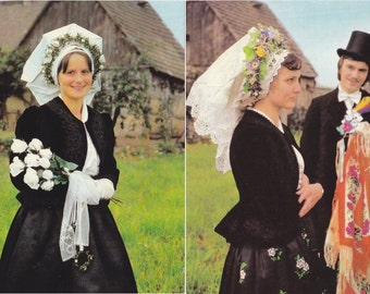 8 Vintage Costume Postcards - Spreewald - Germany - Europe