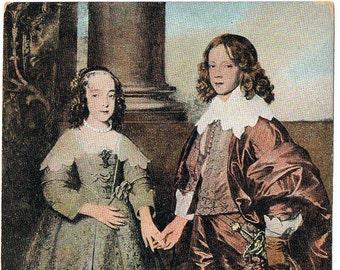 Antique Postcard: Prince William II with his Bride - Holland - England