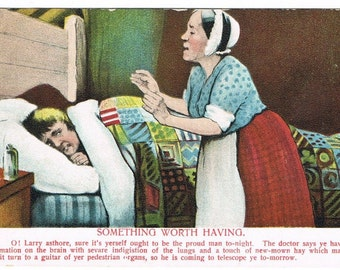 Vintage Comic German Postcard for the American Market - 1908
