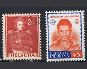 44  Postage Stamps - Military Men - Soldiers - Servicemen