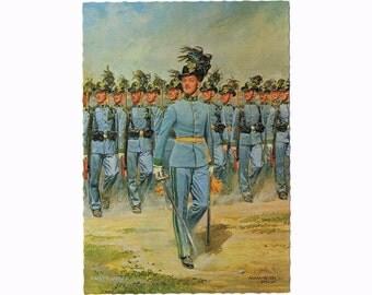 8 Vintage Uniform Postcards - Historical Military Europe