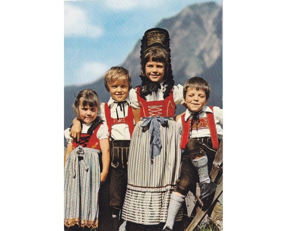 8 Vintage Costume Postcards - Bavaria - Germany - Europe