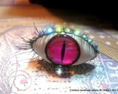 pinky evil eye ring polymer clay eyelash the beautiful monster white ring