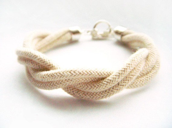 Twisty - Twisted Natural Rope Bracelet with Sterling Silver Toggle