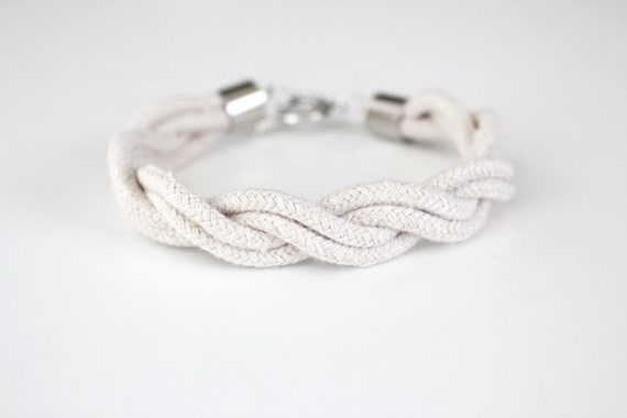 Rope Bracelet - Twisted - Natural - As Seen In LuckyMag