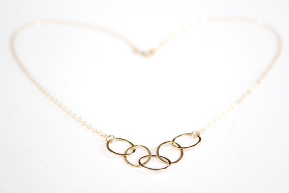 14k Gold Filled Link Necklace - Starlet - SALE