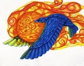 Raven steals the Sun ....Alaskan Native Drawing... 3 size options