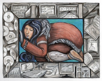 Preserved...Alaskan Native Drawing.....3 size options