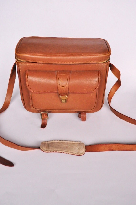 RESERVED FOR MARK Vintage Leather Camera Bag