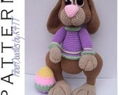 INSTANT DOWNLOAD : JellyBean the Amigurumi Bunny (Dressed) Crochet Pattern