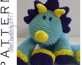 INSTANT DOWNLOAD : KISS Series - Triceratops Crochet Pattern