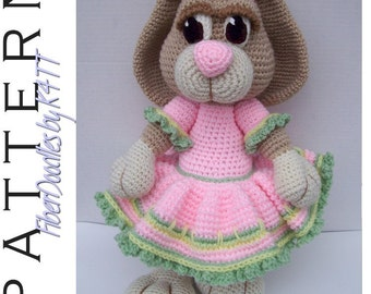 INSTANT DOWNLOAD : Peeps the Amigurumi Bunny Crochet Pattern