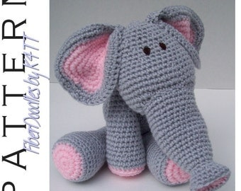 INSTANT DOWNLOAD : KISS Series - Elephant Crochet Pattern