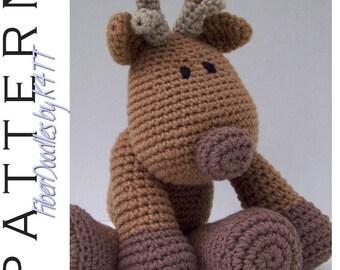 INSTANT DOWNLOAD : KISS Series - Reindeer Crochet Pattern