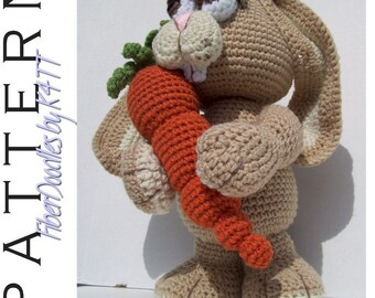 INSTANT DOWNLOAD : Benton the Amigurumi Bunny Crochet Pattern