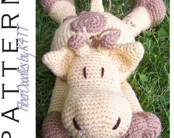 INSTANT DOWNLOAD : Pillow Pal Giraffe Crochet Pattern