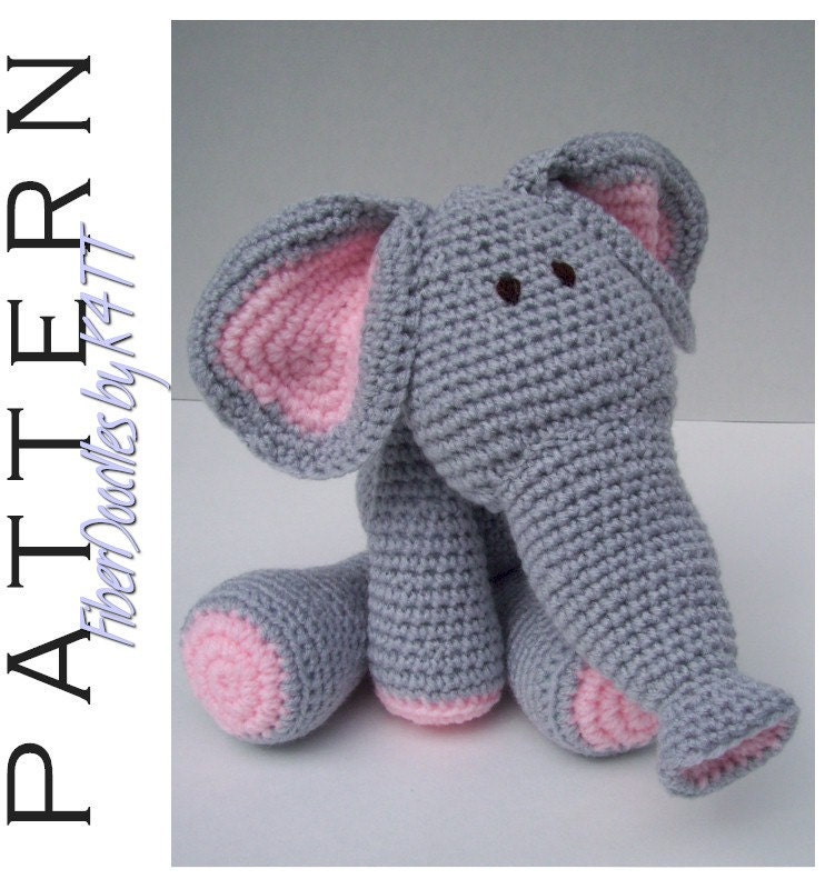 Knitting Pattern For Elephant Boxer Shorts : INSTANT DOWNLOAD : KISS Series Elephant Crochet Pattern
