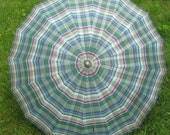 Its Raining Men Great 1940s 1950s  Vintage Bamboo Shaft Lucite Carved Handle Umbrella Parasol