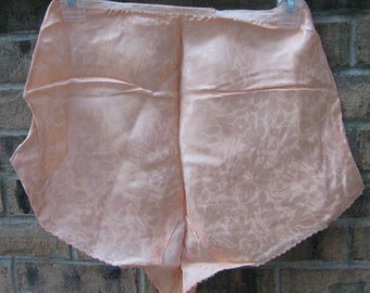 Vintage Hollywood Chic 1920s 1930s Peach gloral sesign Tap Panties Size  xs too Med