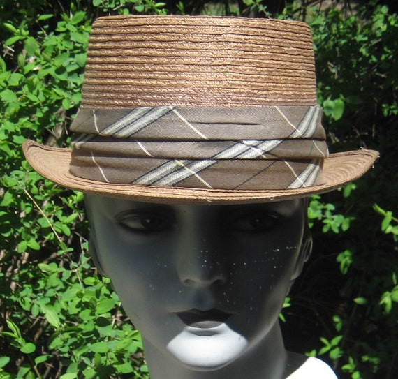 Great Vintage Mad Men StrawFedora Hat Never Worn Size 7an 1 8th  By Dorsey Jay