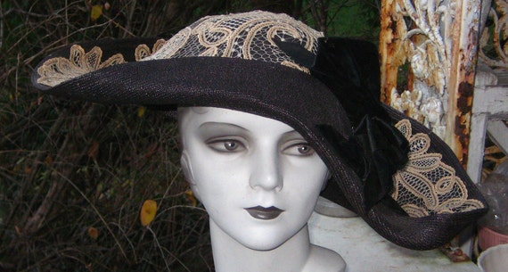 Show stopping Big Bold Fabulous Victorian Hat . WoW