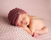 Knit Baby Turban Beanie, Newborn Photo Shoot Prop by Cream of the Prop