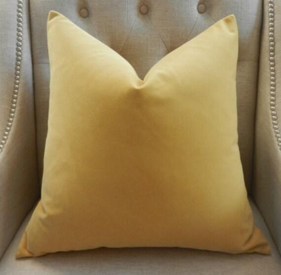 """Decorative Designer Pillow Cover - 20""""X20"""" - Kravet High End velvet in ochre - Pattern on both sides"""