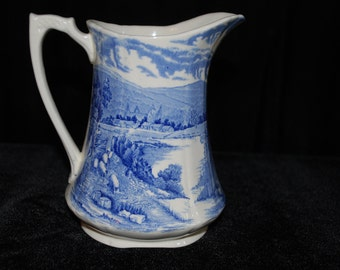 Alfred Meakin Pitcher made in England Tintern Blue from 1930's