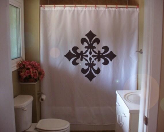 Items similar to shower curtain ornamental design fleur de lis lily