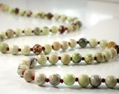 Simple Gemstone Necklace- Lemon Jade--FRONDE