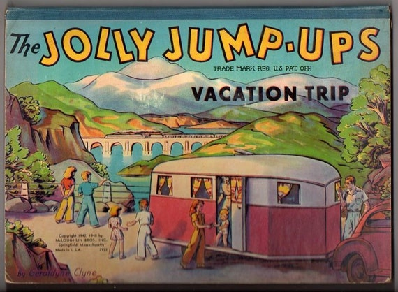 Two Children's Pop-up books - Jolly Jump-ups Vacation, Play Time in Action