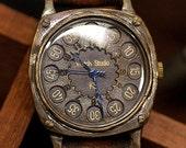 antique steampunk FLY BACK CUSHION handmade watch