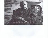 Pablo Picasso and Giorgio de Chirico- 1950s Celebrity Portrait by Sanford Roth