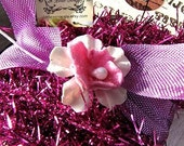 Metallic Wired Tinsel Old Vintage Style Violet  Pink