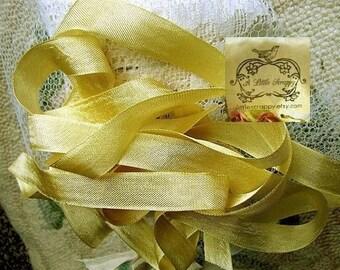 Rayon Seam Binding Ribbon Vintage Style Trophy Gold