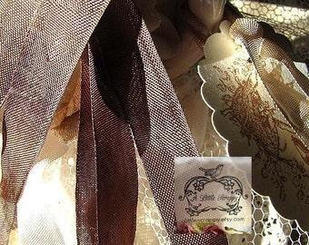 Rayon Seam Binding Ribbon Tobacco Brown