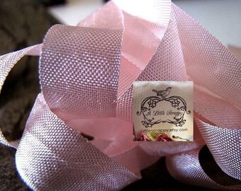 Rayon Seam Binding Ribbon Baby Pink