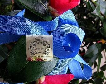 Rayon Seam Binding Ribbon Flower Blue