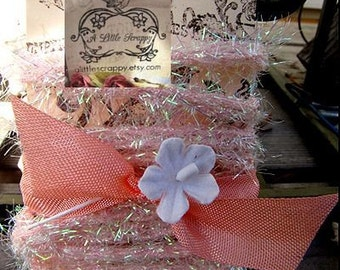 Light Pink Metallic Wired Chenille Tinsel