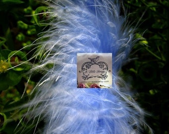 Queen Blue Marabou Boa Feathers