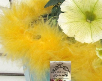 Golden Duck Yellow Small Short Haired Marabou Boa Feathers