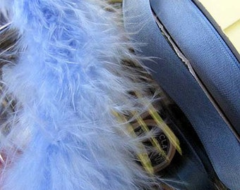 Queen Blue Small Short Haired Marabou Boa Feathers