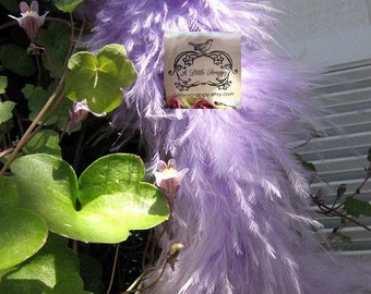 Lavender Small Short Haired Marabou Boa Feathers