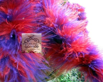 Purple and Red Mix Marabou Boa Feathers