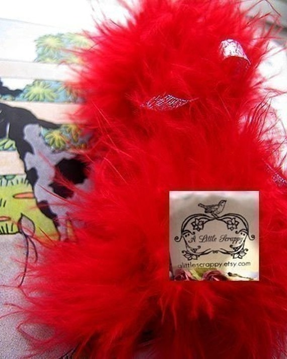 Ferrari Red Marabou Boa Feathers