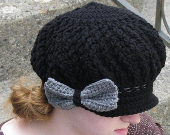 Twisted Cable Newsboy Crochet Pattern